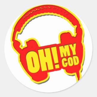 oh my god! classic round sticker