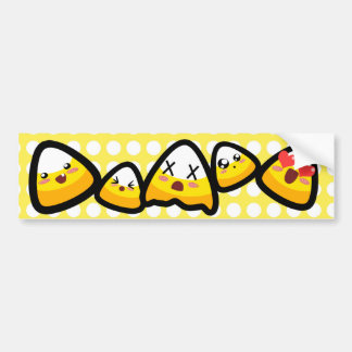 Oh, My Goodness! Kawaii Candy Corn! Bumper Sticker Car Bumper Sticker