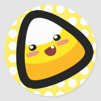 Oh, My Goodness! Toothy Candy Corn! Sticker