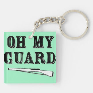 """""""Oh My Guard"""" Double Sided Key Chain"""