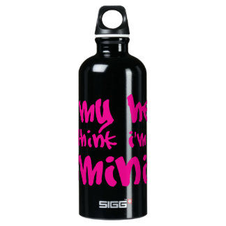 OH MY HECK  in pink! Water Bottle