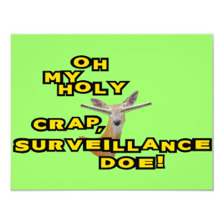 Oh My Holy Crap Surveillance Doe Card