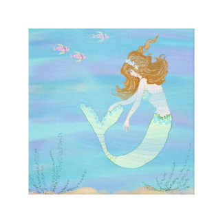 Oh My, I'm a Fish with Mermaid Canvas Print