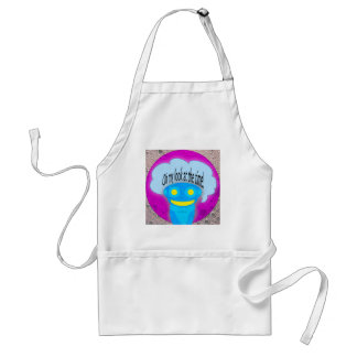 Oh my look at the time! adult apron