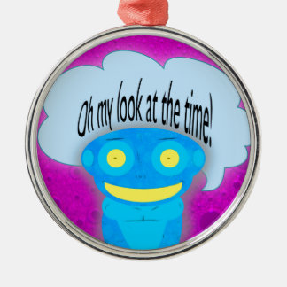 Oh my look at the time! christmas ornament