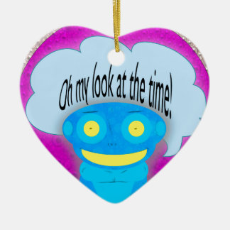 Oh my look at the time! christmas tree ornament