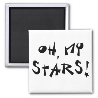 Oh, my stars! 2 inch square magnet