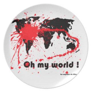 oh my world dinner plate