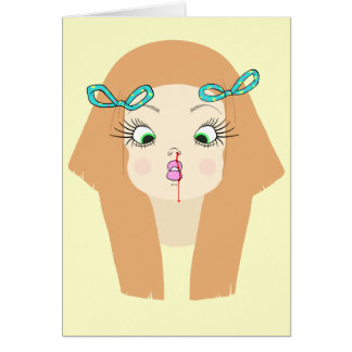 Oh nariz tarjeta de felicitación