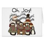 Oh navidad de la alegría tarjeta