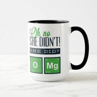 ¡Oh ningún ella no hizo! ¿Ella hizo? Química Taza