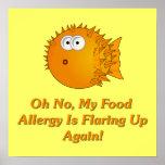 ¡Oh ningún, mi alergia alimentaria está señalando  Impresiones