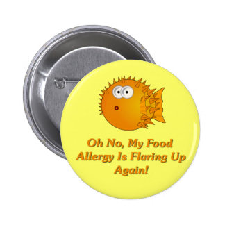 ¡Oh ningún, mi alergia alimentaria está señalando  Pin Redondo De 2 Pulgadas