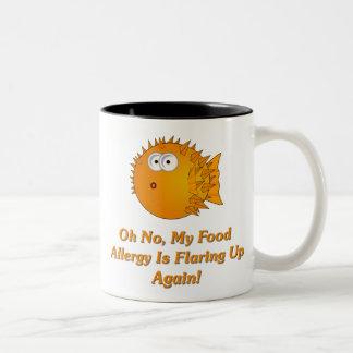¡Oh ningún, mi alergia alimentaria está señalando Taza De Dos Tonos