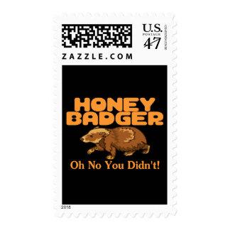 Oh ningún tejón de miel timbre postal