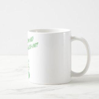 ¡OH NINGÚN USTED DI-INT! Verde retro del ama de ca Taza Básica Blanca