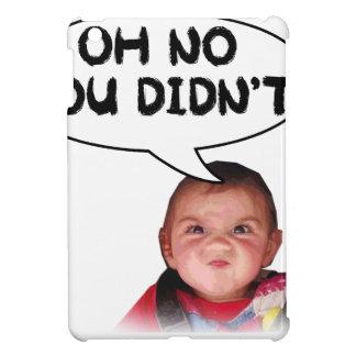 Oh ningún usted hizo no bebé enojado iPad mini cárcasa