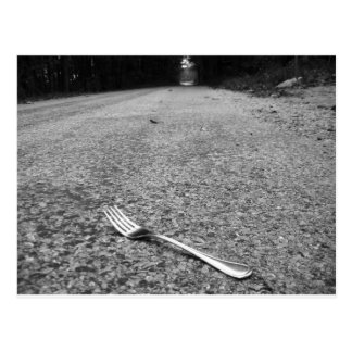 Oh, no! A fork in the road! Postcard