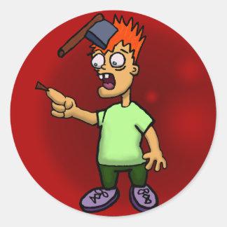 Oh No a Splinter!!!!! Classic Round Sticker