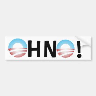 Oh No Anti Obama Bumper Sticker