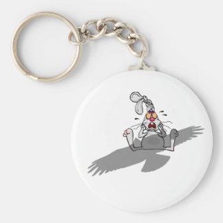 ¡Oh no! Dibujo animado del conejo Llavero Redondo Tipo Pin