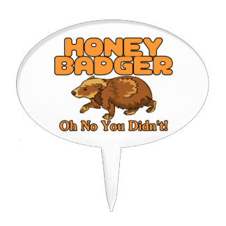 Oh No Honey Badger Cake Topper