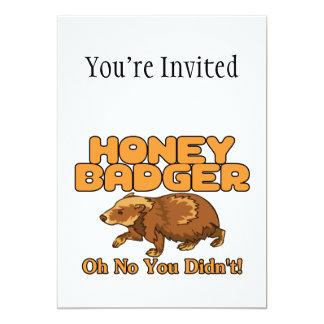 Oh No Honey Badger 5x7 Paper Invitation Card