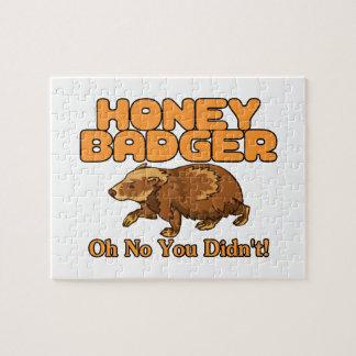 Oh No Honey Badger Jigsaw Puzzle
