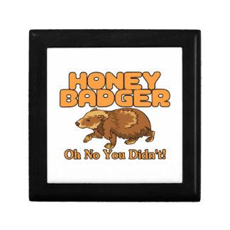 Oh No Honey Badger Keepsake Box