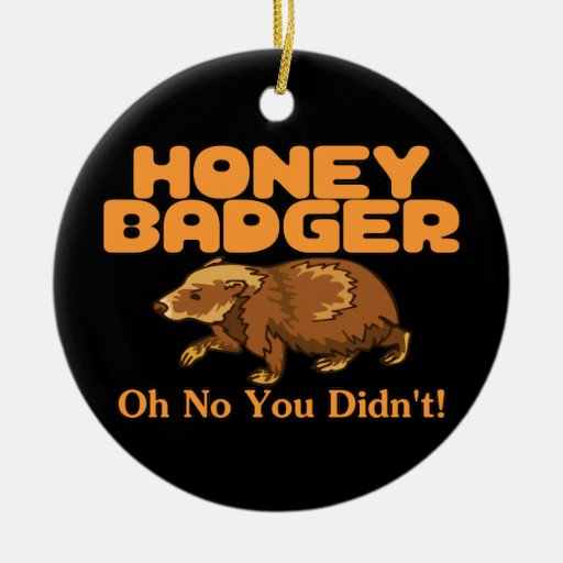 Oh No Honey Badger Double-Sided Ceramic Round Christmas Ornament