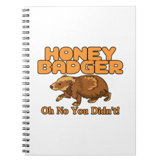Oh No Honey Badger Spiral Notebook