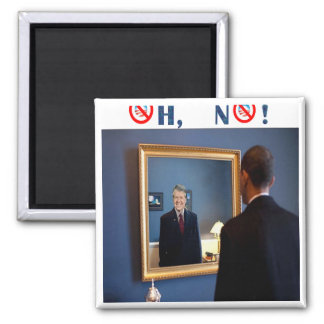 Oh No! Jimmy Carter, but faster! 2 Inch Square Magnet