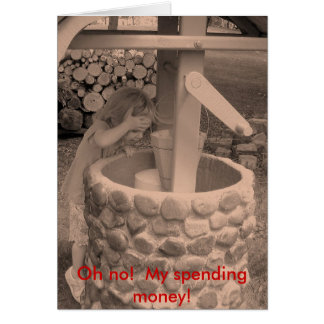 Oh no!  My spending money! Stationery Note Card