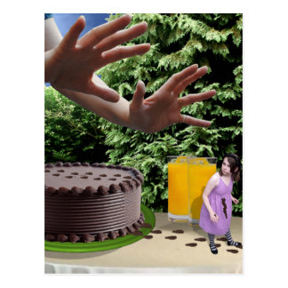 Oh No! Not the cake! Postcard