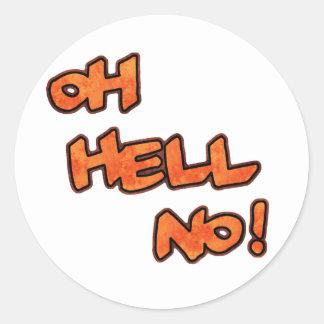 ¡Oh no! … Pegatinas Etiquetas Redondas