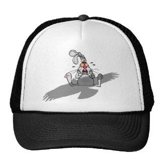 Oh No! Rabbit Cartoon Trucker Hat