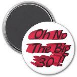 Oh No The Big 30 Magnet