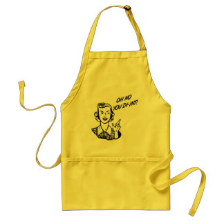 OH NO YOU DI-INT! Retro Housewife Adult Apron