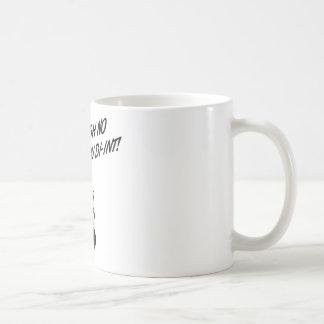 OH NO YOU DI-INT! Retro Housewife B&W Classic White Coffee Mug