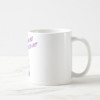 OH NO YOU DI-INT! Retro Housewife Purple Classic White Coffee Mug