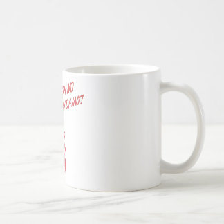 OH NO YOU DI-INT! Retro Housewife Red Classic White Coffee Mug