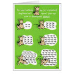 Oh no!  You killed my dog! Greeting Card