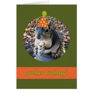 Oh, Nuts!  Another Birthday with Funny Squirrel Greeting Card