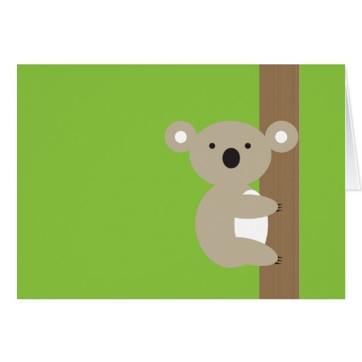 Oh Oh Koala Greeting Card