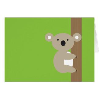Oh oh koala tarjeta de felicitación