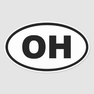 OH Ohio Oval Sticker