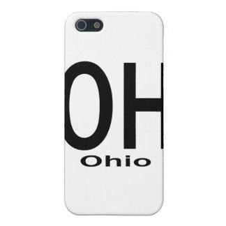 OH Ohio plain black Cases For iPhone 5