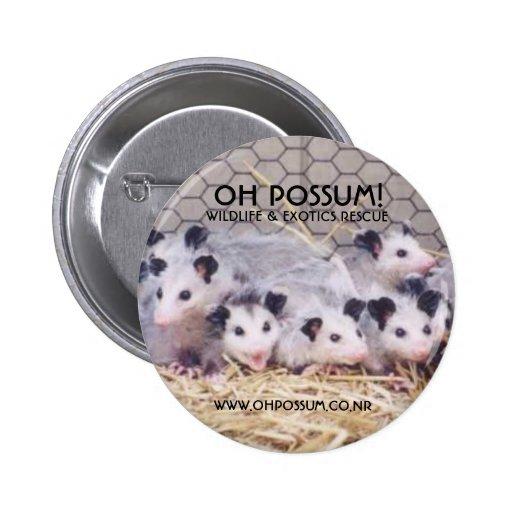 ¡Oh oposum! Botón del rescate Pins