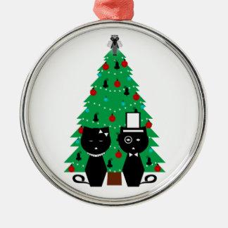 Oh, ornamento del árbol de navidad adorno navideño redondo de metal