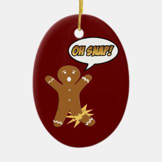 Oh ornamento rápido del navidad de la galleta del adornos de navidad